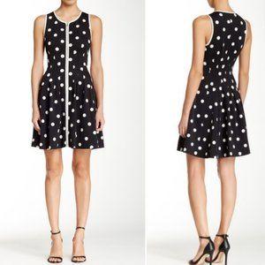 Betsey Johnson Black White Polka Dot Dress